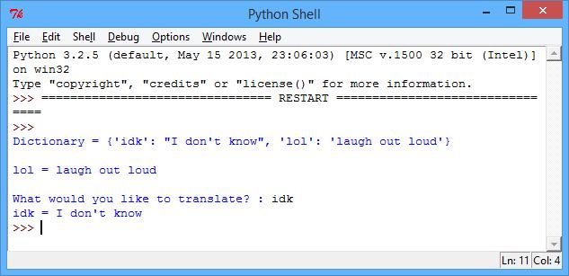 get key of dictionary python